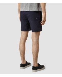 AllSaints - Blue Ward Swimshort for Men - Lyst