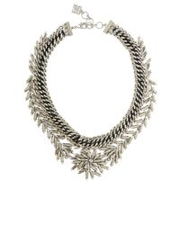 BCBGMAXAZRIA | Metallic Woven Leaf Necklace | Lyst
