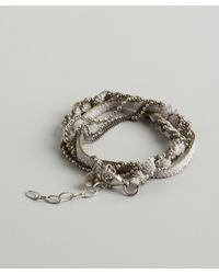 Sogoli | Purple Lavender And Olive Braided Chain Wrap Bracelet | Lyst