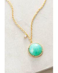 Indulgems | Metallic Button Pendant Necklace | Lyst