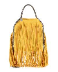 Stella McCartney - Yellow Mini 3chain Falabella Fringed Bag - Lyst
