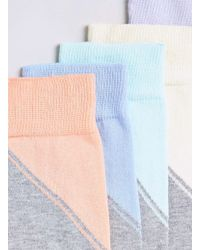 TOPMAN - Multicolor Colour Block 5 Pack Socks for Men - Lyst