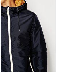 Jack & Jones - Black Hooded Coat for Men - Lyst