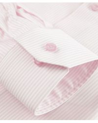 Eton of Sweden | Pink Contemporary Fit Striped Shirt for Men | Lyst