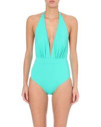 Lazul | Blue Phaedra Plunge Swimsuit | Lyst