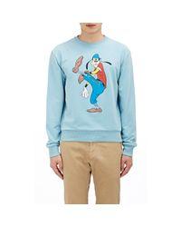 Loewe - Blue Goofy-print Sweatshirt for Men - Lyst