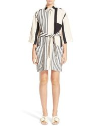 Acne Studios | Natural 'cabell' Stripe Shirtdress | Lyst