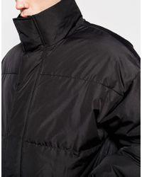 ASOS   Oversized Quilted Parka Jacket In Black for Men   Lyst