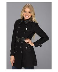 Sam Edelman | Black Kendrix Studded Collar Trench | Lyst