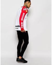 DIESEL | Red Long Sleeve Top Logo Moto Print Raglan for Men | Lyst