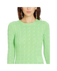 Polo Ralph Lauren | Green Cable-knit Cashmere Sweater | Lyst