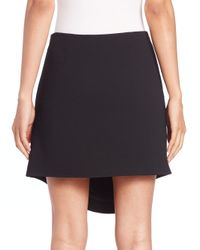 Opening Ceremony - Black Talen Overlap Mini Skirt - Lyst