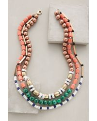 Anthropologie - Green Strawberry Hill Necklace - Lyst