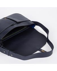 Paul Smith | Blue Handcrafted Navy Leather Shoulder Bag | Lyst