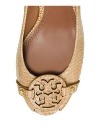 Tory Burch - Brown Mini Miller Open-Toe Wedge - Lyst