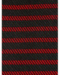 Saint Laurent   Black Striped Rectangular Tie for Men   Lyst