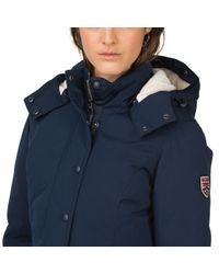 Tommy Hilfiger | Blue Down Coat | Lyst