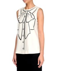 Boutique Moschino | Natural Sleeveless Shirt | Lyst