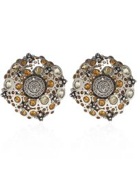 Stephen Dweck | Metallic Silver Citrine And Diamond Clip-on Earrings | Lyst