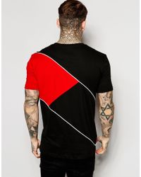 Good For Nothing | Black T-shirt With Diagonal Stripe for Men | Lyst
