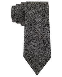 Calvin Klein | Black Onyx Floral Skinny Tie for Men | Lyst