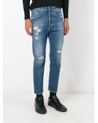 People - Blue Distressed Jeans for Men - Lyst