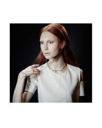 Colette Malouf | Metallic Highline Slant Necklace | Lyst