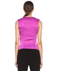 Nina Ricci | Pink Poly Wrap Top | Lyst