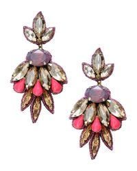 Deepa Gurnani - Purple Imperial Garden Flower Drop Earring - Lyst