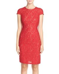 Marc New York | Black Lace Sheath Dress | Lyst