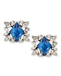 DANNIJO | Blue Bri Crystal Stud Earrings | Lyst