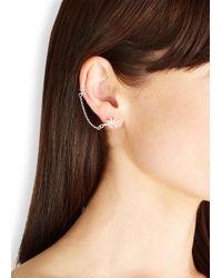 Daisy Knights | Metallic Lotus Silver Earrings | Lyst