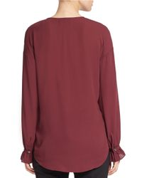 424 Fifth | Purple Poet Blouse | Lyst