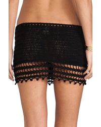 Anna Kosturova - Black Marrakesh Crochet Skirt - Lyst