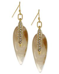 Vince Camuto | Metallic Gold-Tone Teardrop Pavé Spear Earrings | Lyst