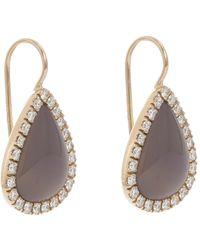 Roberto Marroni - Gray Women's Layered Gemstone Teardrop Earrings - Lyst