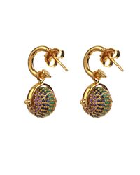 Jade Jagger - Metallic Multi-Stone & Gold-Plated Disco Ball Earrings - Lyst