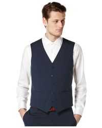 Perry Ellis | Blue Solid Vest for Men | Lyst