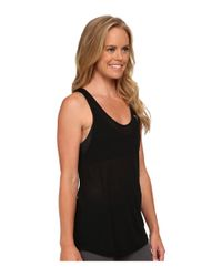 PUMA - Black St Burnout Layer Tank Top - Lyst