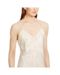Ralph Lauren - Natural Lace-trimmed Nightgown - Lyst