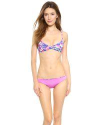 Zinke - Purple Emmi Reversible Bikini Top - Cobalt Chevron Print/Orchid - Lyst