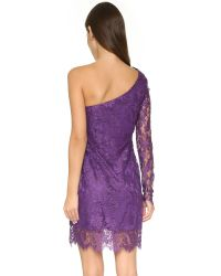 Balmain | Purple One Shoulder Dress - Black | Lyst