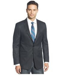 Calvin Klein - Black Big And Tall Neat Classic-fit Sport Coat for Men - Lyst