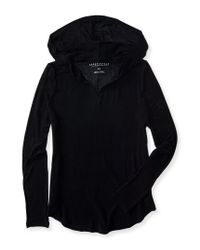 Aéropostale | Black Long Sleeve Featherweight Tunic Hoodie | Lyst