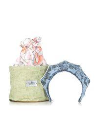 Masterpeace - Blue Koko Shnik Origami Silk-blend Headband - Lyst