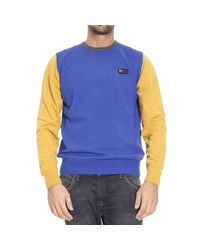 Frankie Morello | Blue Sweater Roundneck With Contrast for Men | Lyst
