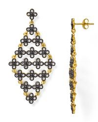 Freida Rothman - Metallic Floral Kite Drop Earrings - Lyst