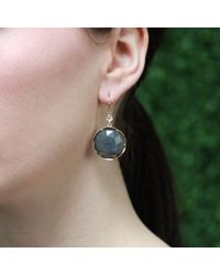 Irene Neuwirth | Gray Rose Cut Labradorite Earrings | Lyst