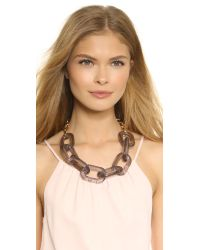 Kenneth Jay Lane - Gray Chain Link Necklace - Grey - Lyst