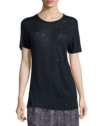 IRO - Blue Clay Distressed Linen Tee - Lyst